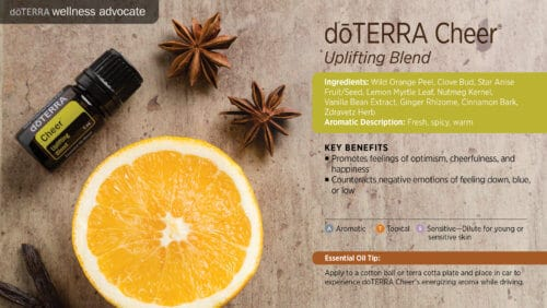 doterra cheer essential oil uses