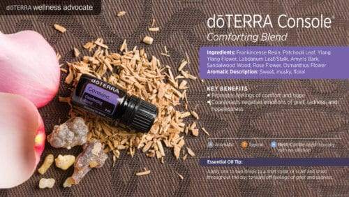 doterra console essential oil uses