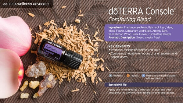 doTERRA Console Comforting Blend Benefits
