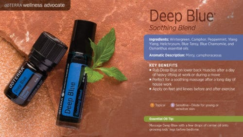 doterra deep blue essential oil uses