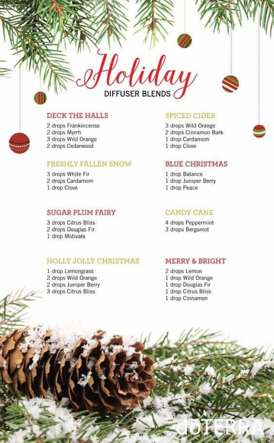 doTERRA Essential Oils Holiday Diffuser Blends