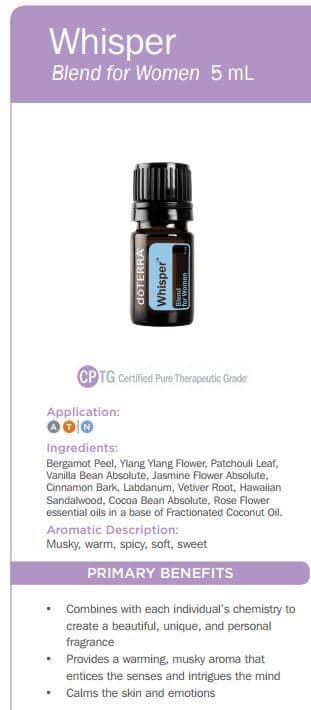 doTERRA Whisper Blend for Women Uses