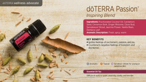 doterra passion essential oil uses
