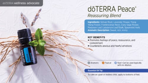 doterra peace essential oil uses