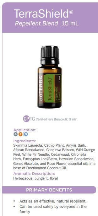 doTERRA TerraShield Outdoor Blend Uses