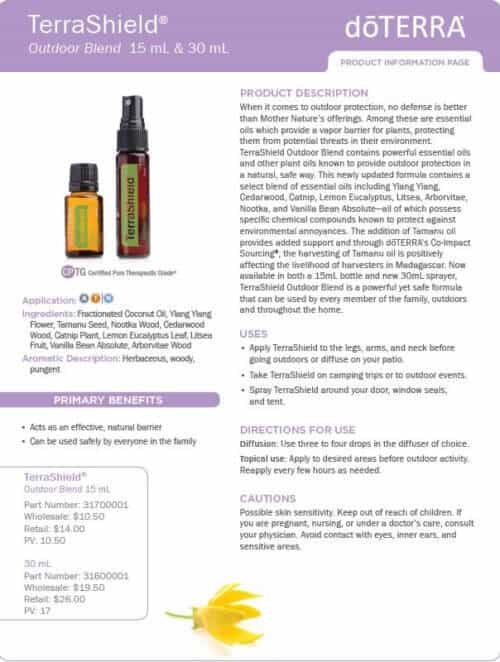 doterra terra shield essential oil uses
