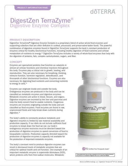 doterra terrazyme essential oil
