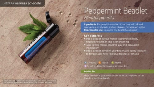 doterra peppermint beadlets essential oil uses