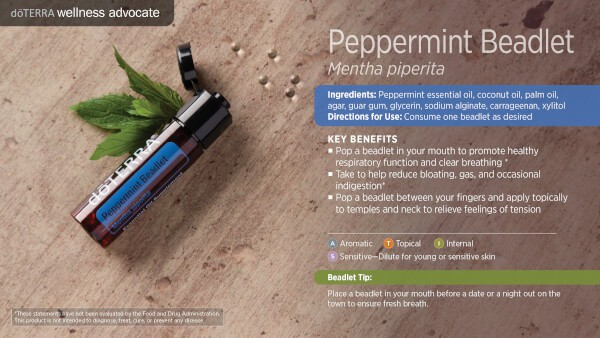 doTERRA peppermint beadlets benefits