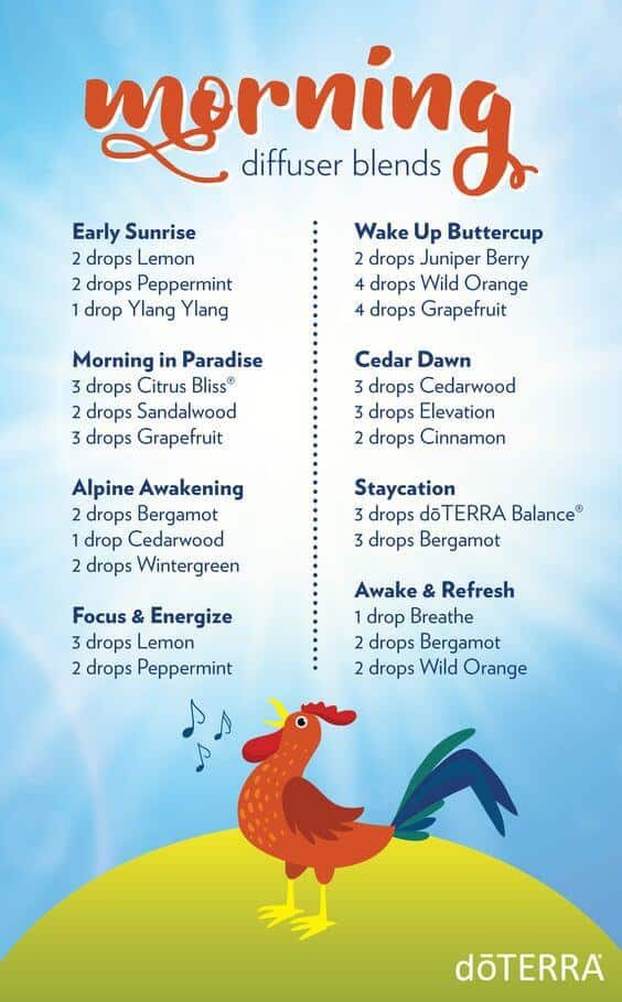 doTERRA morning diffuser blends