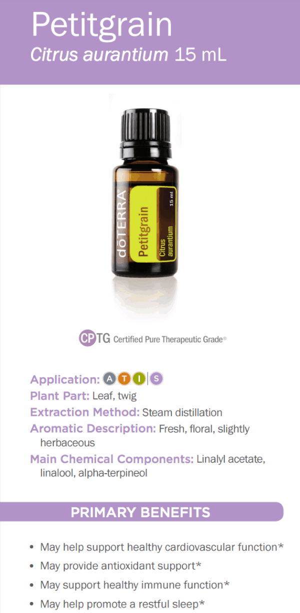 doTERRA Petitgrain Essential Oil Uses