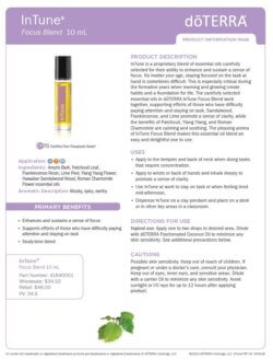 doTERRA In Tune Product Information Page