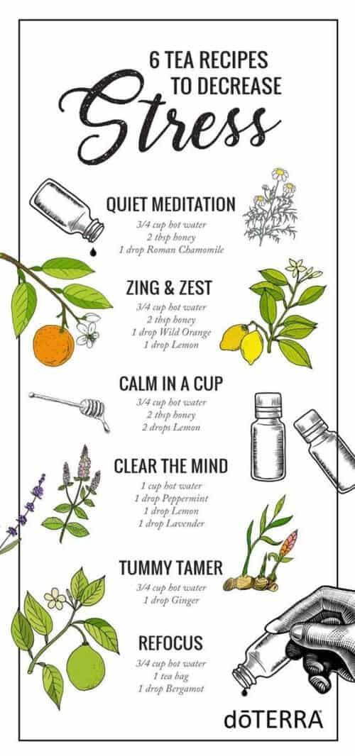 6 tea recipes to decrease stress