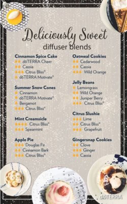 Deliciously Sweet doTERRA Diffuser Blends