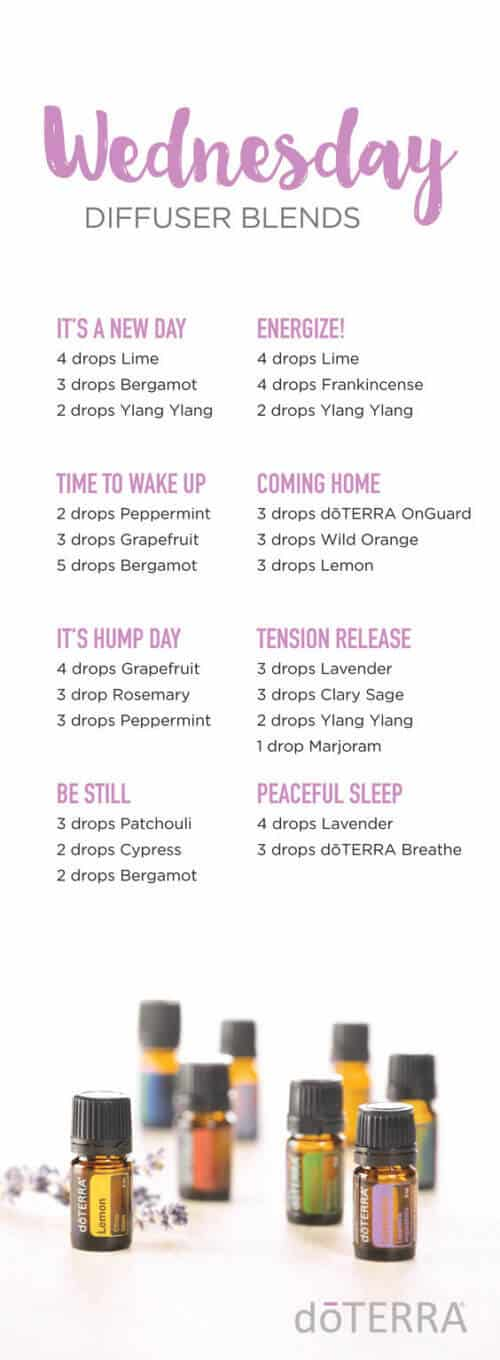 doTERRA Wednesday Diffuser Blends