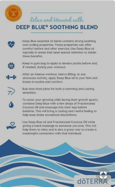 Doterra Deep Blue Soothing Blend Uses And Benefits