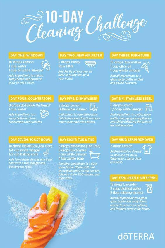 10-Day doTERRA Cleaning Challenge