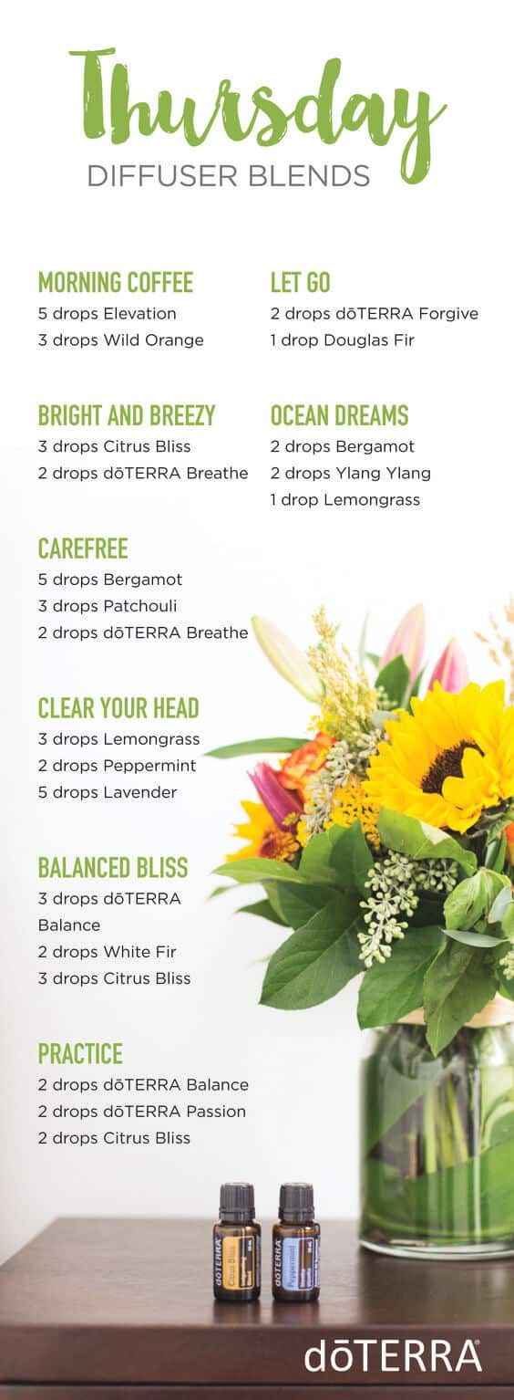 doTERRA Thursday Diffuser Blends