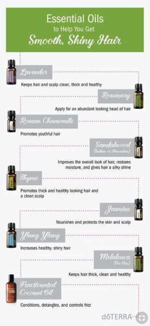 smooth shiny hair with doTERRA essential oils
