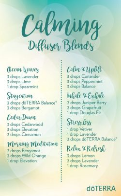 doTERRA Calming Diffuser Blends