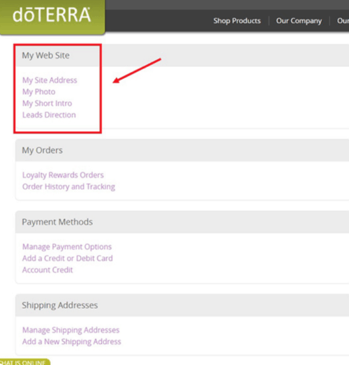 doTERRA My Web Site