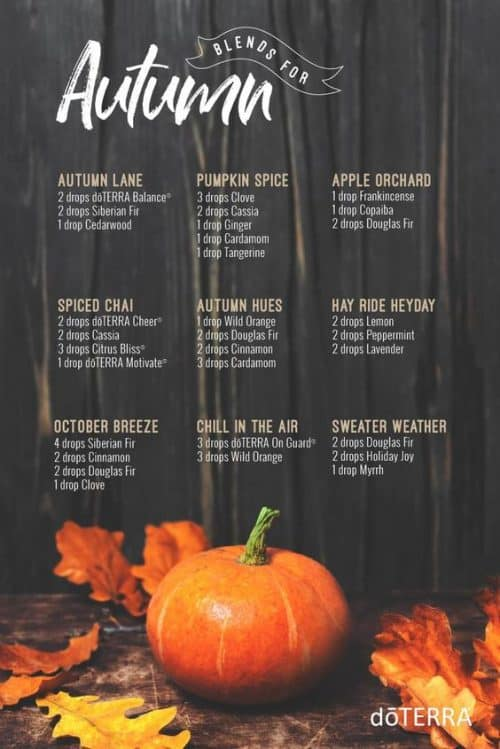 doTERRA Blends for Autumn