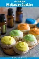 doTERRA Meltaway Cookies with Lemon, Lime, Wild Orange or Peppermint Essential Oil
