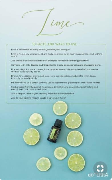 doTERRA Lime 10 Facts and Ways to Use