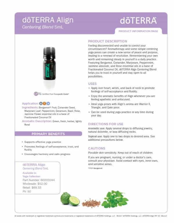 doTERRA Align Product Information Page