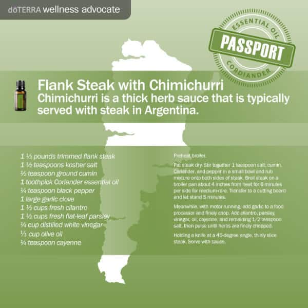doTERRA Flank Steak Chimichurri