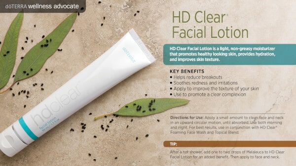 doTERRA doTERRA HD Clear Facial Lotion Benefits and Uses