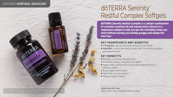Serenity Restful Complex Softgels Benefits and Uses