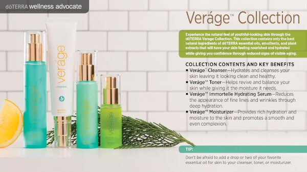 doTERRA Verage Collection Benefits and Uses