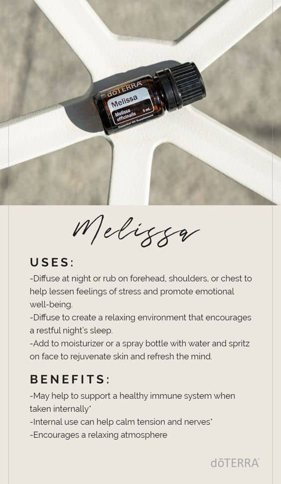 doTERRA Melissa Oil Uses and Benefits