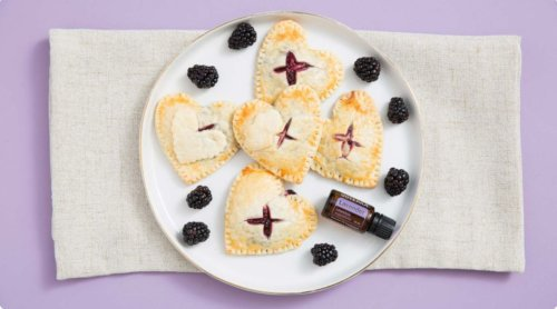 doTERRA Blackberry Lavender Cream Pies