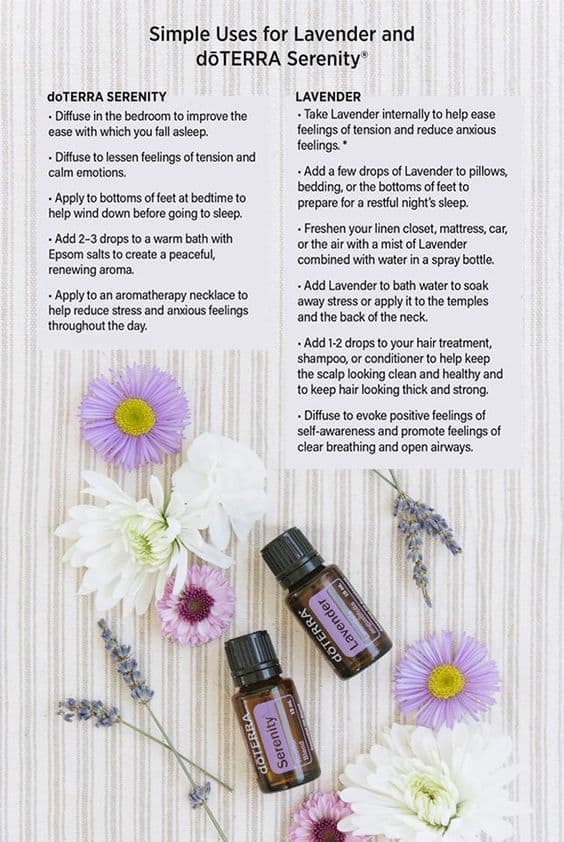 Simple Uses of Lavender and doTERRA Serenity