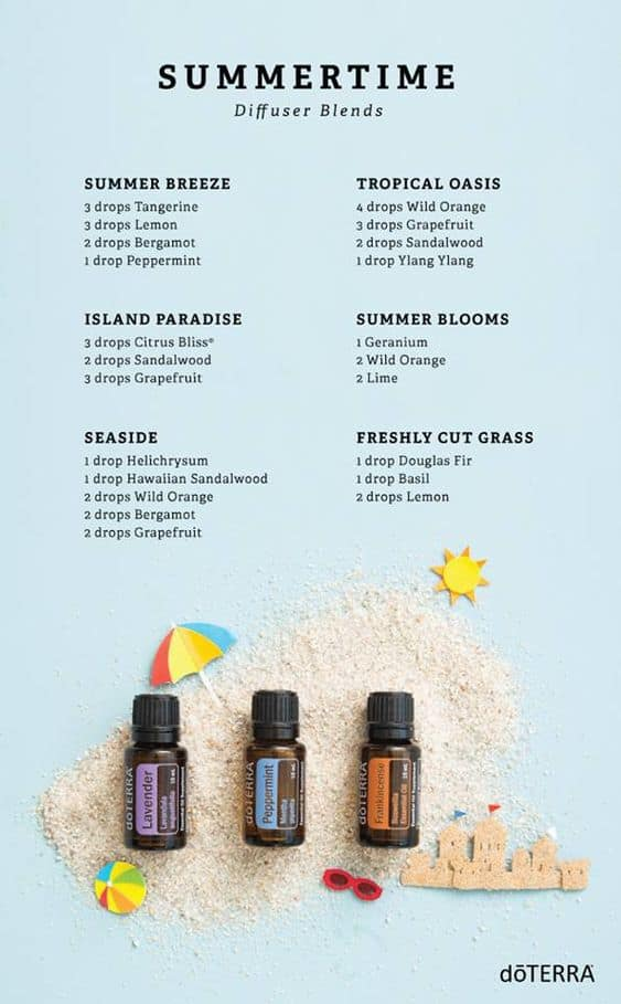 doTERRA Summertime diffuser blends!