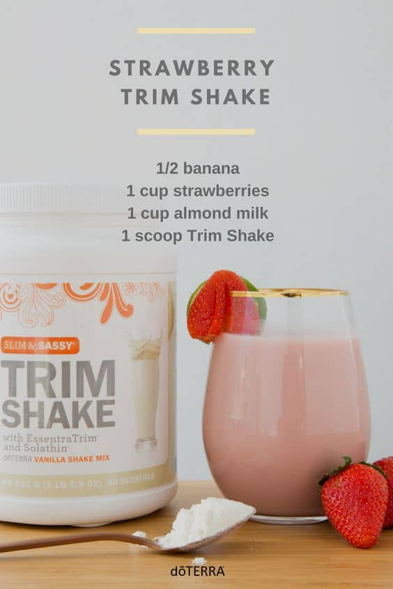 doTERRA Strawberry TrimShake Recipe