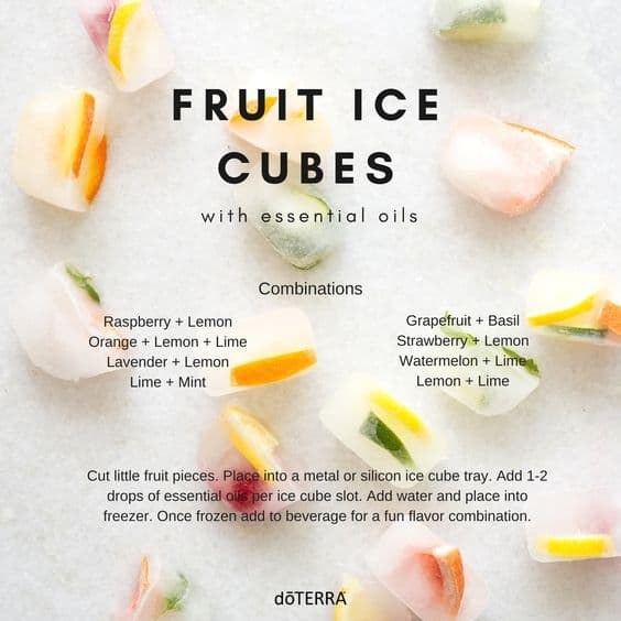 doTERRA Fruit Ice Cubes