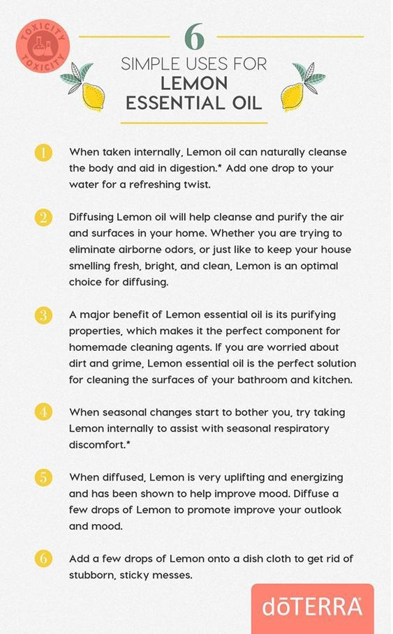 6 Simple Uses for doTERRA Lemon Essential Oil