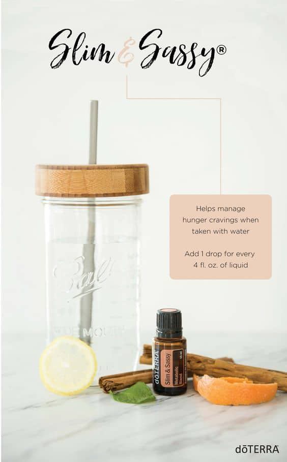 doTERRA Slim and Sassy helps manage cravings when taken with water