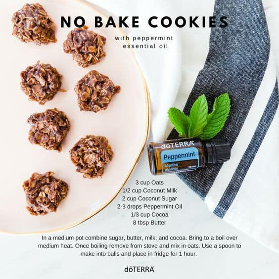 doTERRA No-Bake Peppermint Cookies