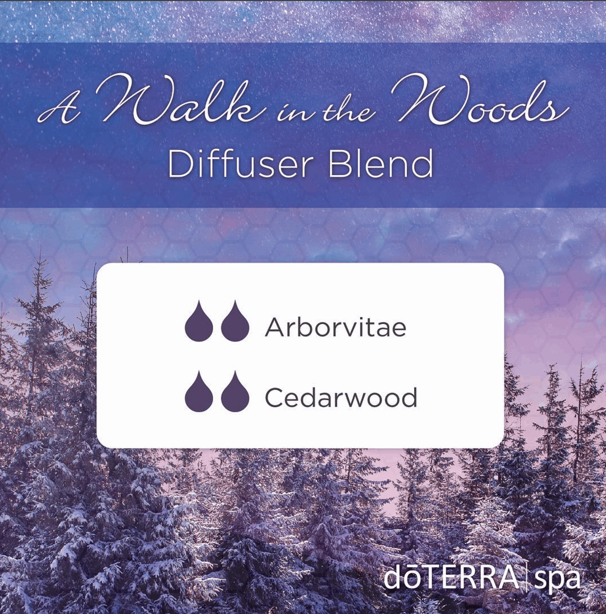 A Walk in the Woods doTERRA Diffuser Blend