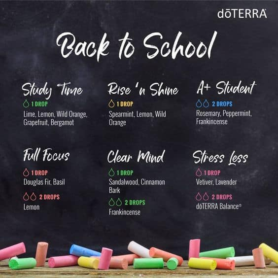 doTERRA Back to School Diffuser Blends