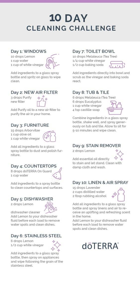 10 Day doTERRA Cleaning Challenge