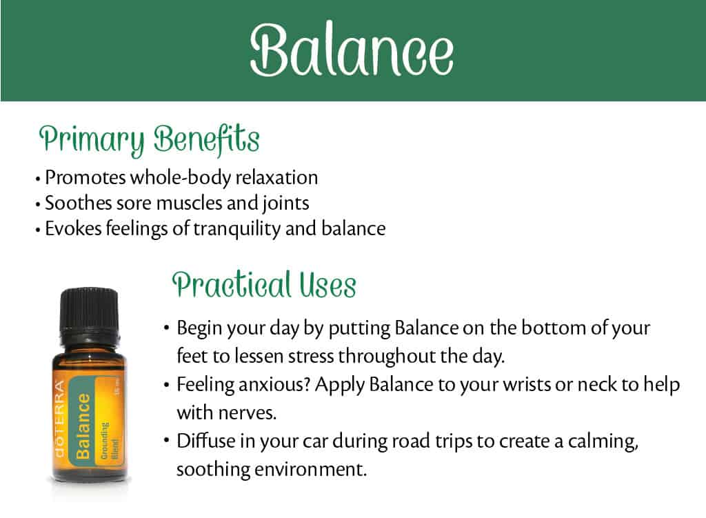 doTERRA Balance Benefits and Uses