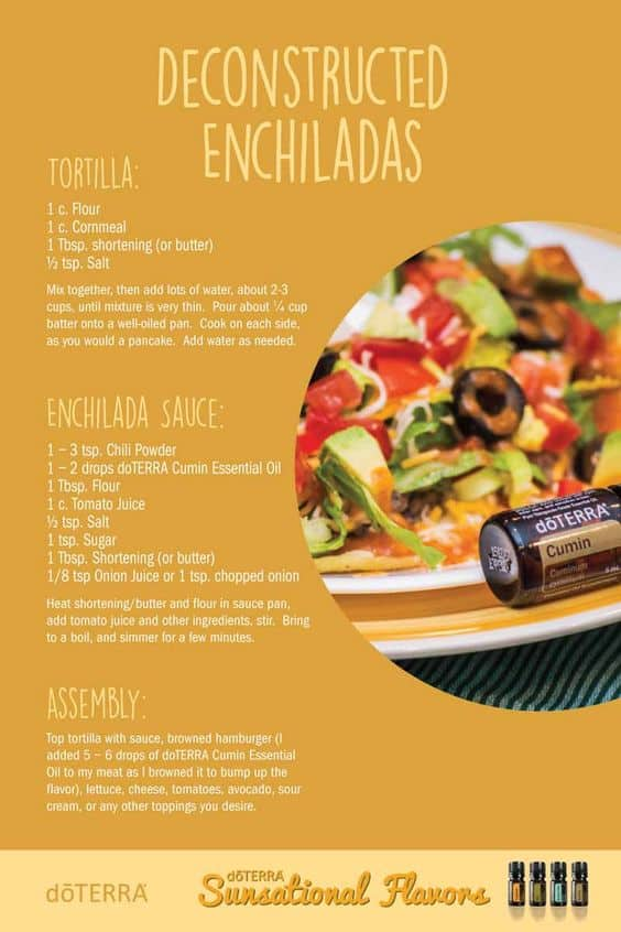 doTERRA Deconstructed Enchiladas