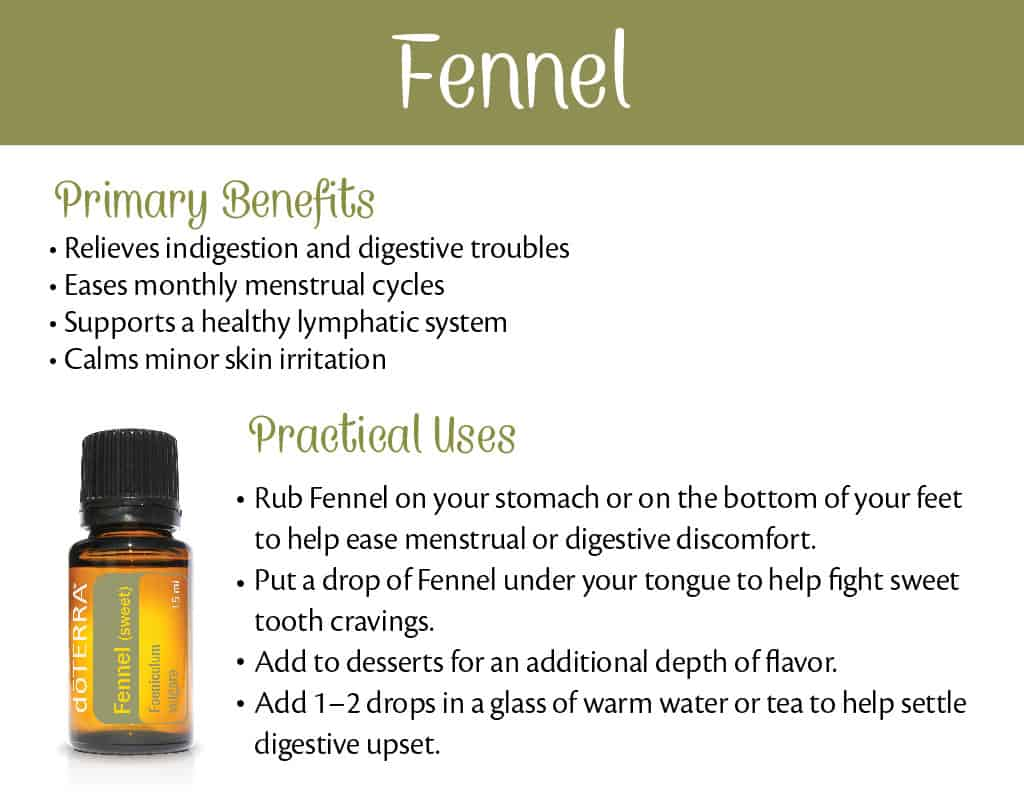 doTERRA Fennel Benefits and Uses
