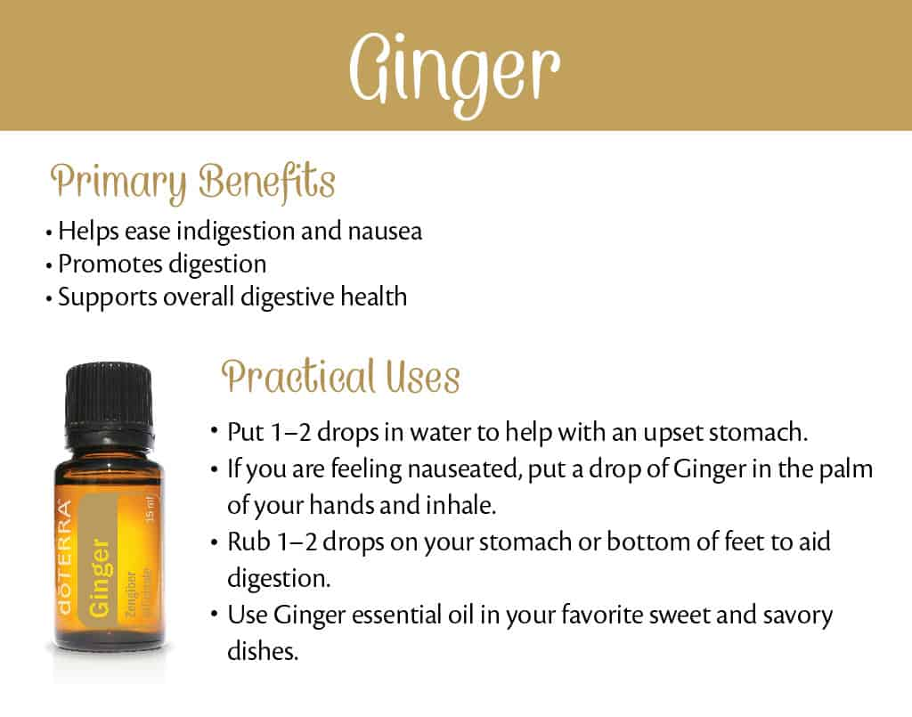 doTERRA Ginger Benefits and Uses