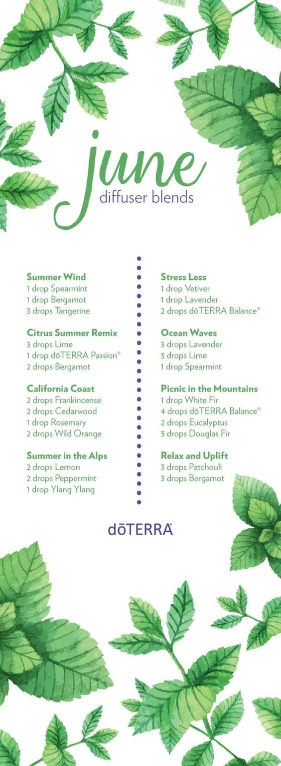 doTERRA June Diffuser Blends